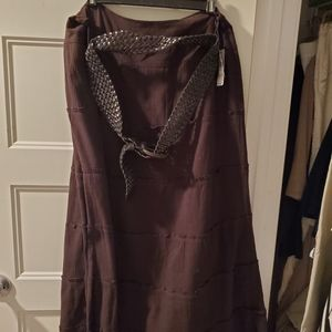 AGB brown tiered skirt